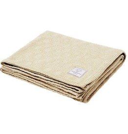 Faribault Woolen Mill Co. Baby Herringbone Cotton Blanket - White/Sand