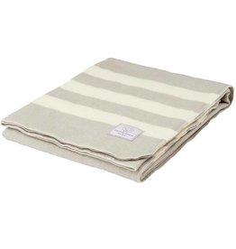 Faribault Woolen Mill Co. Baby Trapper Wool Blanket - Feather Gray