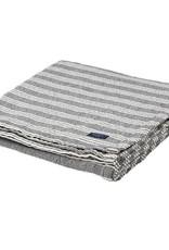 Faribault Woolen Mill Co. Beacon Stripe Cotton Throw - White/Charcoal