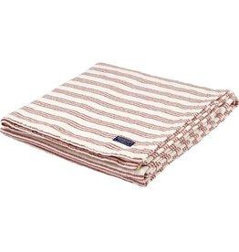 Faribault Woolen Mill Co. Beacon Stripe Cotton Throw - White/Red
