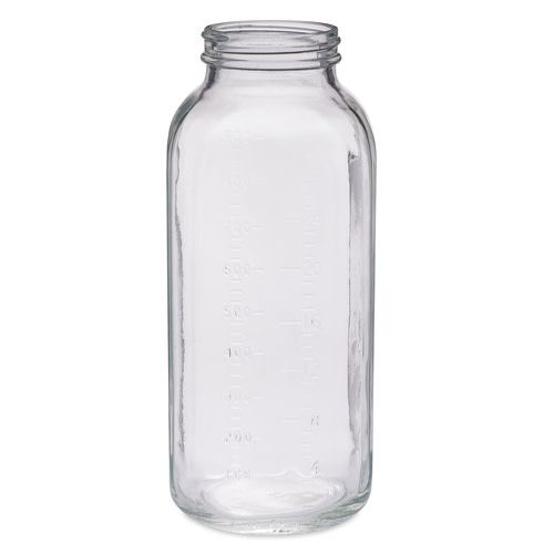 Freund Container Glass Bottle, Clear 32 oz. Square