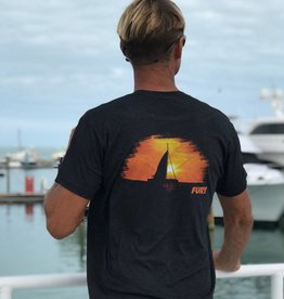 Next Level Fury Sunset Sail T-shirt