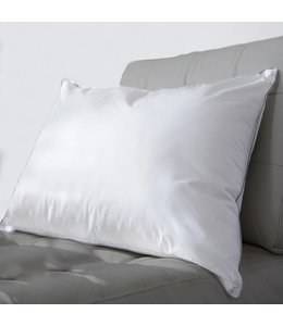 LAUREN TAYLOR T230 COTTON PILLOW w/SILVER PIPING QUEEN (MP12)