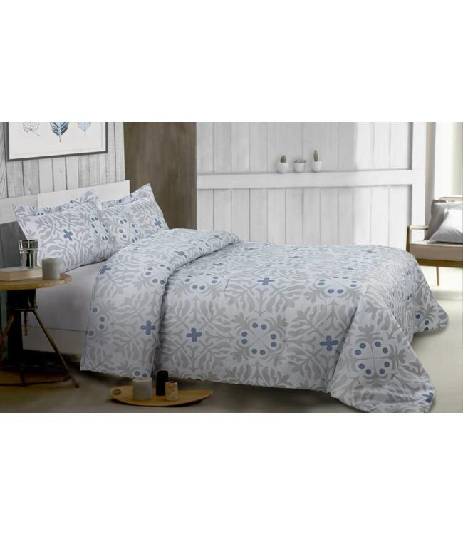 LAUREN TAYLOR HAZE BLUE COMFORTER SET (MP3)