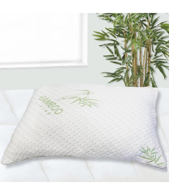 """MAISON BLANCHE BAMBOO COVER - CHOPPED MEMORY FOAM PILLOW WHIT 18x26"""" (MP6)"""