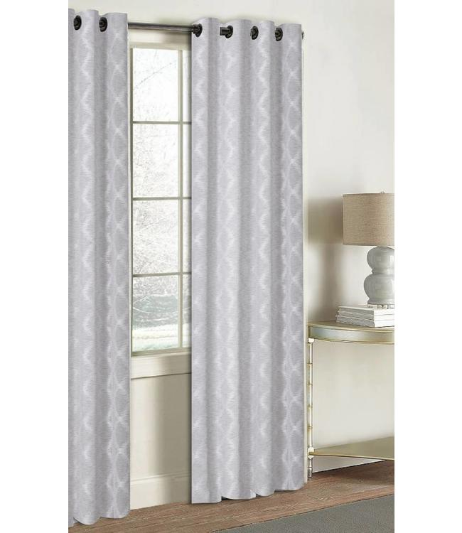 LAUREN TAYLOR ARIES JACQUARD WINDOW PANEL GREY