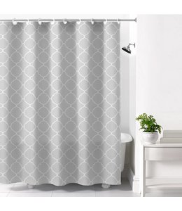 *HOOKLESS CALISTA PRINTED SHOWER CURTAIN GREY