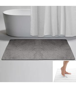 "LAUREN TAYLOR *DIAMOND MEMORY FOAM BATH MAT AST 20X30"" (MP18)"