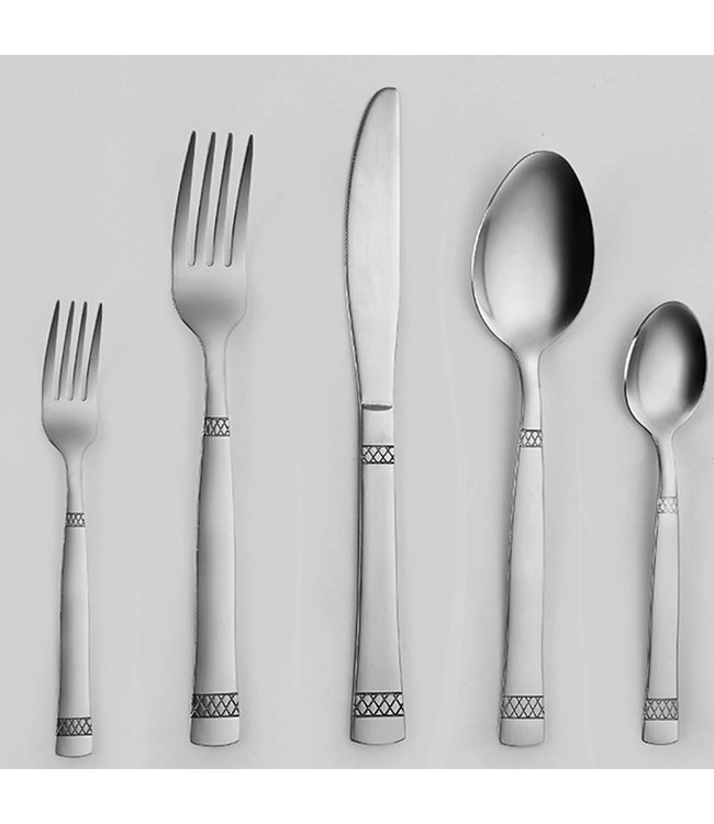 NET DESIGN 20PCS STAINLESS CUTLERY SET (MP10)