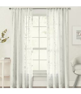 MAISON CONDELLE *IVY EMBROIDERED VOILE TAB TOP WINDOW PANEL (MP12)