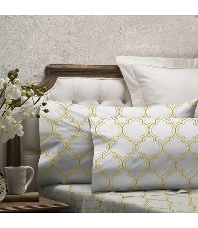 LAUREN TAYLOR TRELLIS MICRO FIBER SHEET SET (MP12)