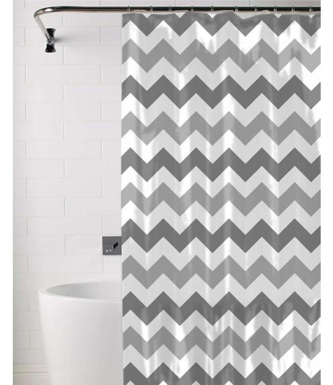 CHEVRON SHOWER CURTAIN AST 70X72 MP12