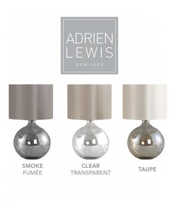 ADRIEN LEWIS ROUND GLASS TABLE LAMP SMOKE (MP6)