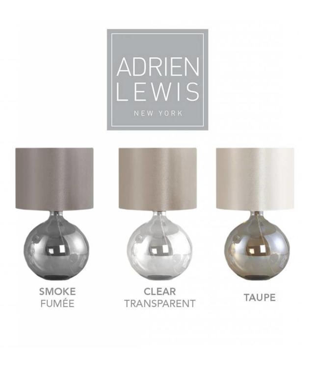 ADRIEN LEWIS ROUND GLASS TABLE LAMP SMOKE (MP6)