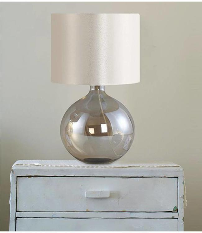 ROUND GLASS TABLE LAMP CLEAR (MP6)