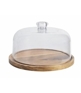 A LA CUISINE ACACIA CHEESE CUTTING BOARD WITH CLEAR COVER (MP8)