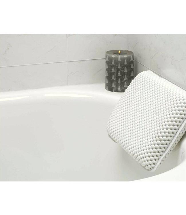 LAUREN TAYLOR BATH PILLOW w/SUCTION CUPS WHITE (MP6)