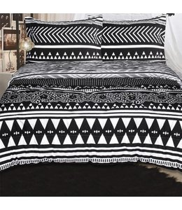 LAUREN TAYLOR TRIBAL/AMAL REVERSIBLE COMFORTER SET WHITE/BLACK (MP3)