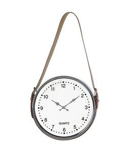 "LAUREN TAYLOR HANGING CLOCK WHITE 12"" (MP6)"