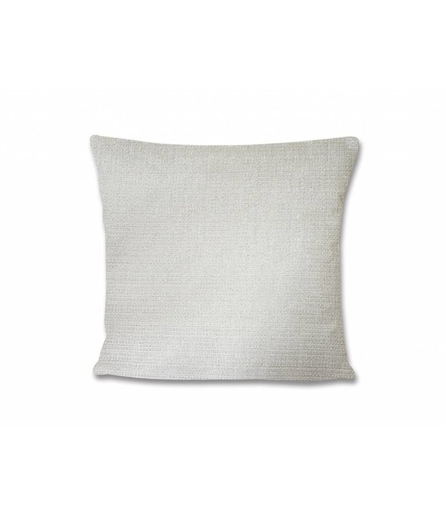 "LAUREN TAYLOR ASTRID LUREX FAUX LINEN WHITE/SILVER 22X22"" CUSHION (MP6)"