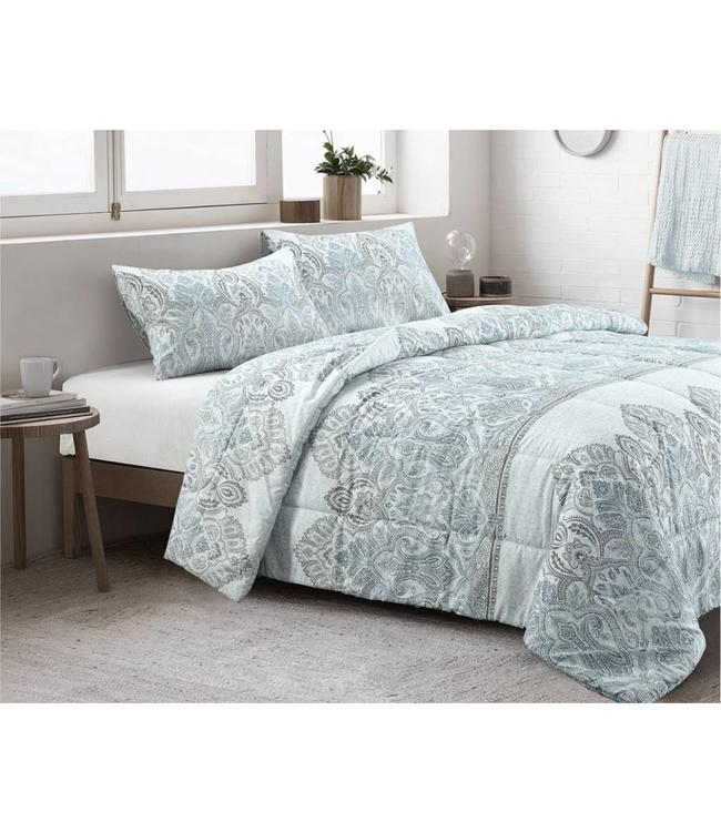 MACKENNA COTTON 3PC COMFORTER SET BLUE (MP2)