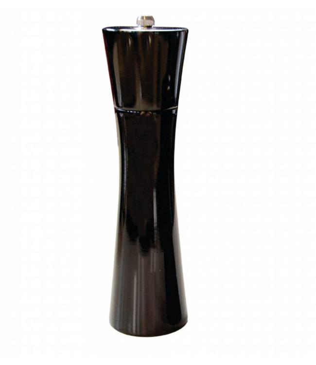 "A LA CUISINE RUBBER/WOOD SALT/PEPPER MILL w/CERAMIC GRINDER BLACK 8"" (MP12)"