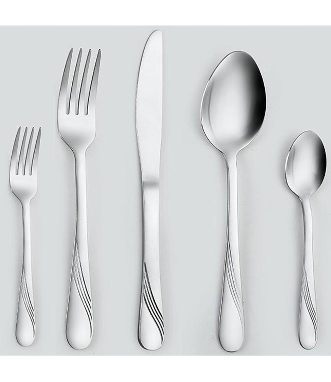 A LA CUISINE 20PCS CUTLERY SET WAVE DESIGN (MP12)