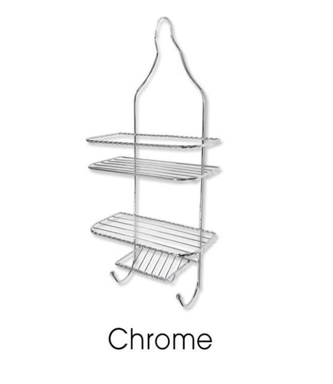 SANDRA VENDETTI SHOWER CADDY CHROME (MP12)