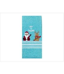 "CHRISTMAS EMBELLISHED 2PK KITCHEN TOWEL 18X28"""