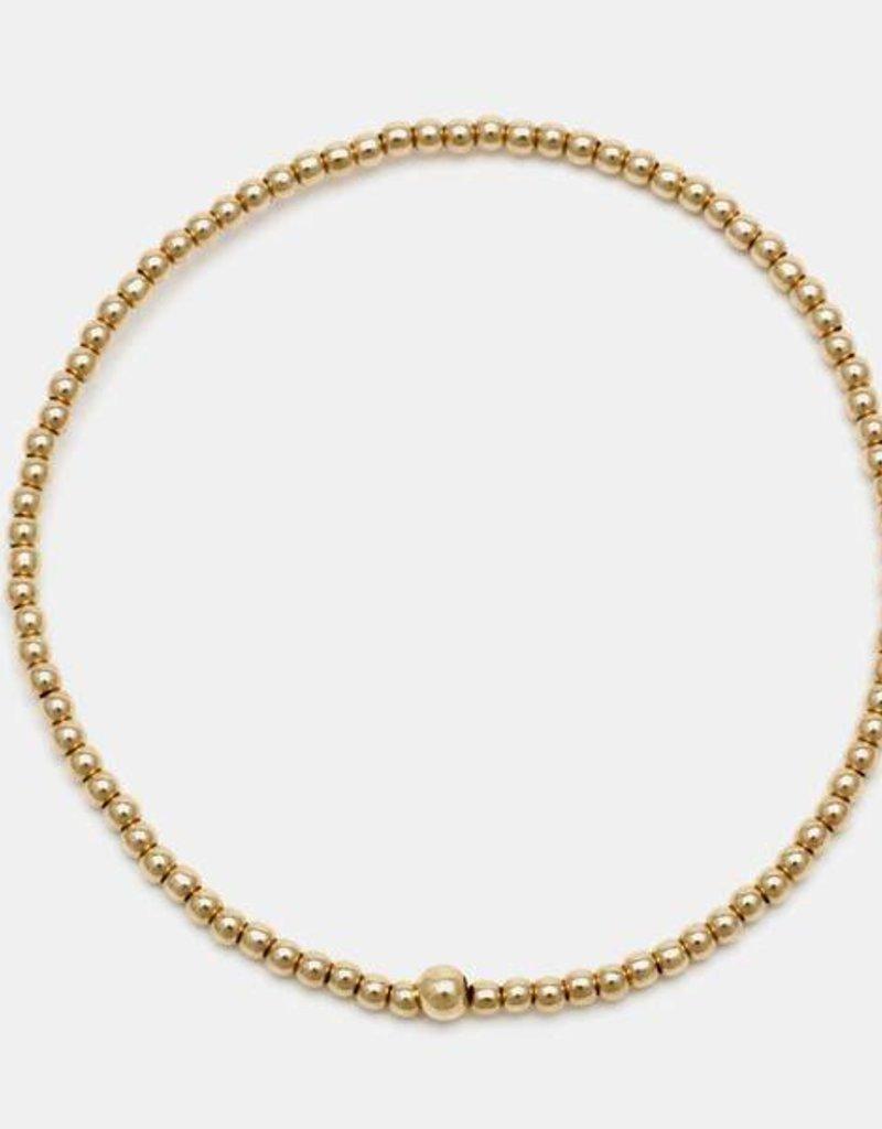 Karen Lazar Small 2 mm Yellow Gold Filled Bracelet