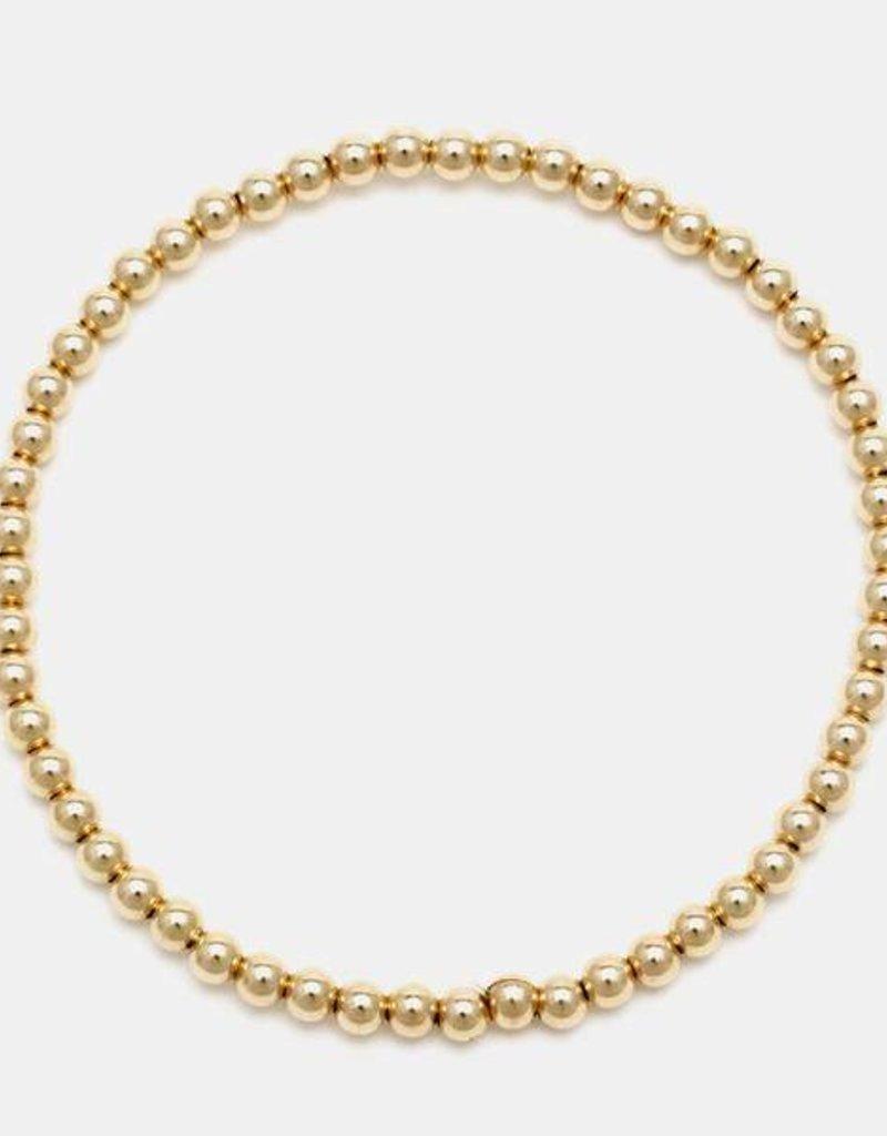Karen Lazar Medium  3 mm Yellow Gold Filled Bracelet