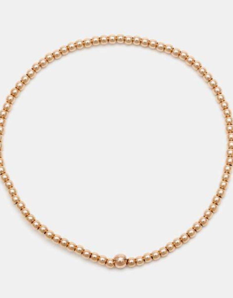 Karen Lazar Small 2 mm Rose Gold Filled Bracelet