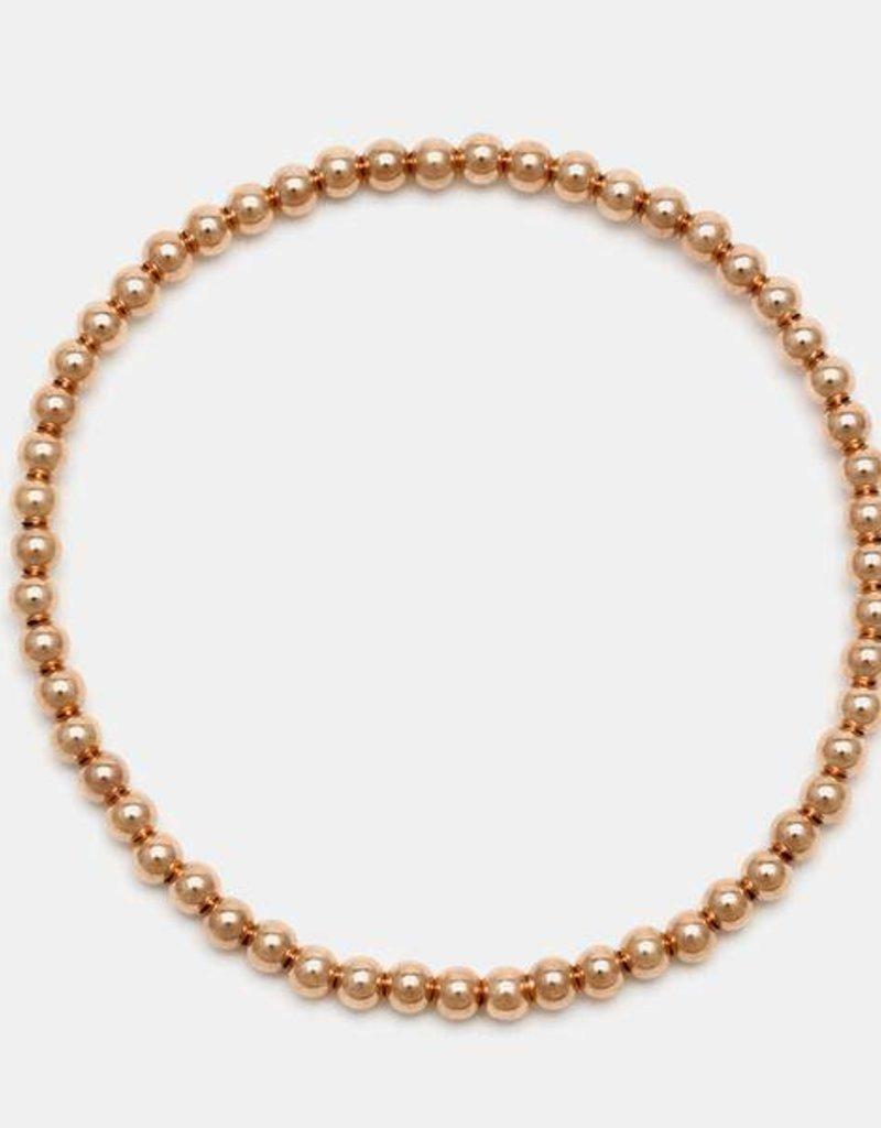 Karen Lazar Medium  3 mm Rose Gold Filled Bracelet