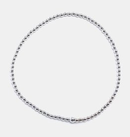 Karen Lazar Small 2 mm Sterling Silver Bracelet