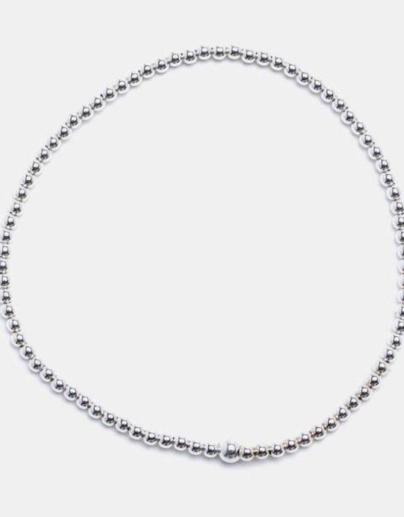 Karen Lazar Small 2 mm Sterling Silver Bracelet