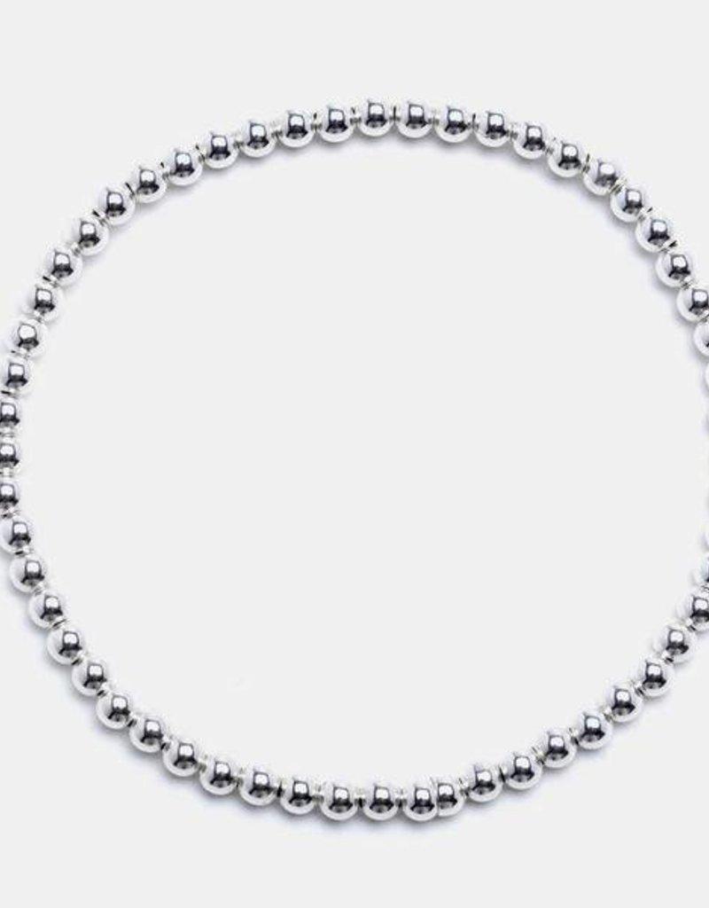 Karen Lazar Medium  3 mm Sterling Silver Bracelet