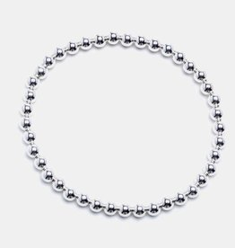 Karen Lazar Large 4mm Sterling Silver Bracelet