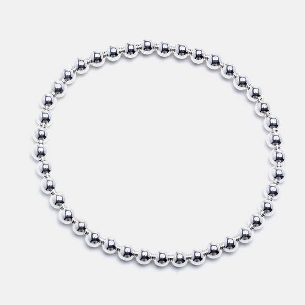 Karen Lazar Large 4 mm Sterling Silver Bracelet