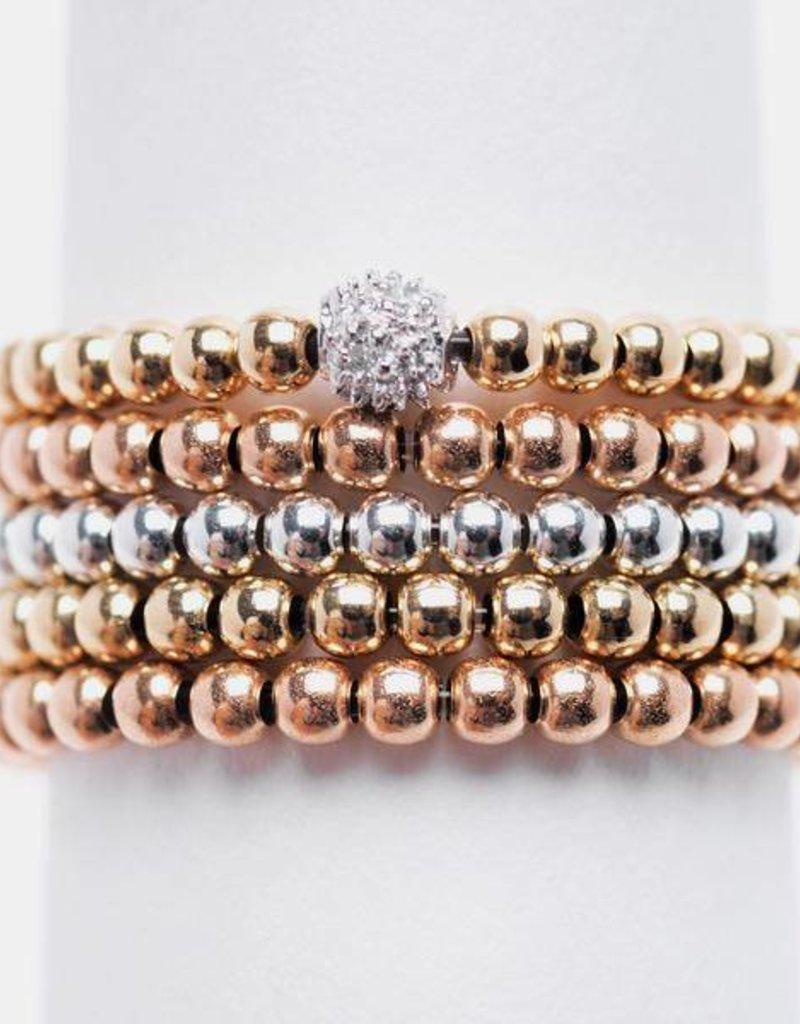 Karen Lazar Rose Gold Filled Signature Large Bead Ring