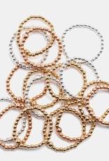 Karen Lazar 14k Yellow Gold Filled Ring with 14k Gold Pave Diamond Bead