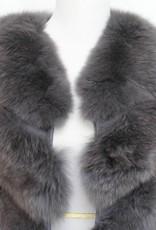 Daniella Erin NYC Grey Fox Fur Vest