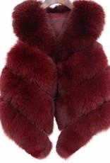 Daniella Erin NYC Burgundy Fox Fur Vest