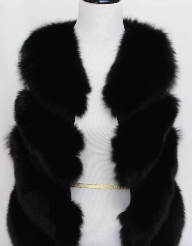 Daniella Erin NYC Black Fox Fur Vest