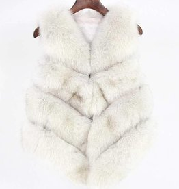 Daniella Erin NYC White Fox Fur Vest