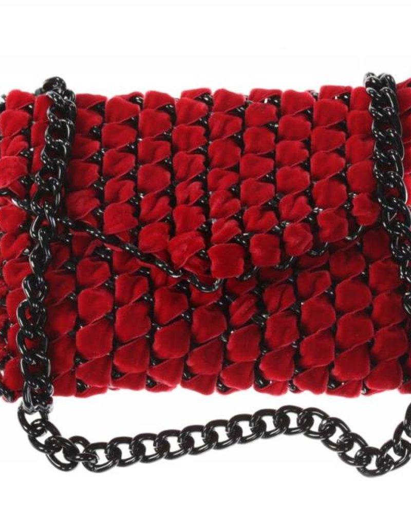 Tambonita Eve Velvet Clutch Strap S