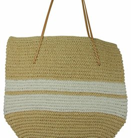 Hat Attack Bold White Twisted Tote
