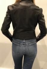 Staci Koondel Designs Black Leather Biker Jacket