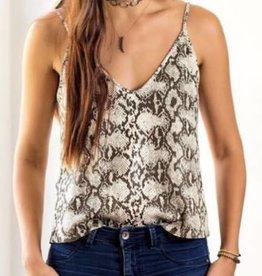 Staci Koondel Designs Snake Leather Cami