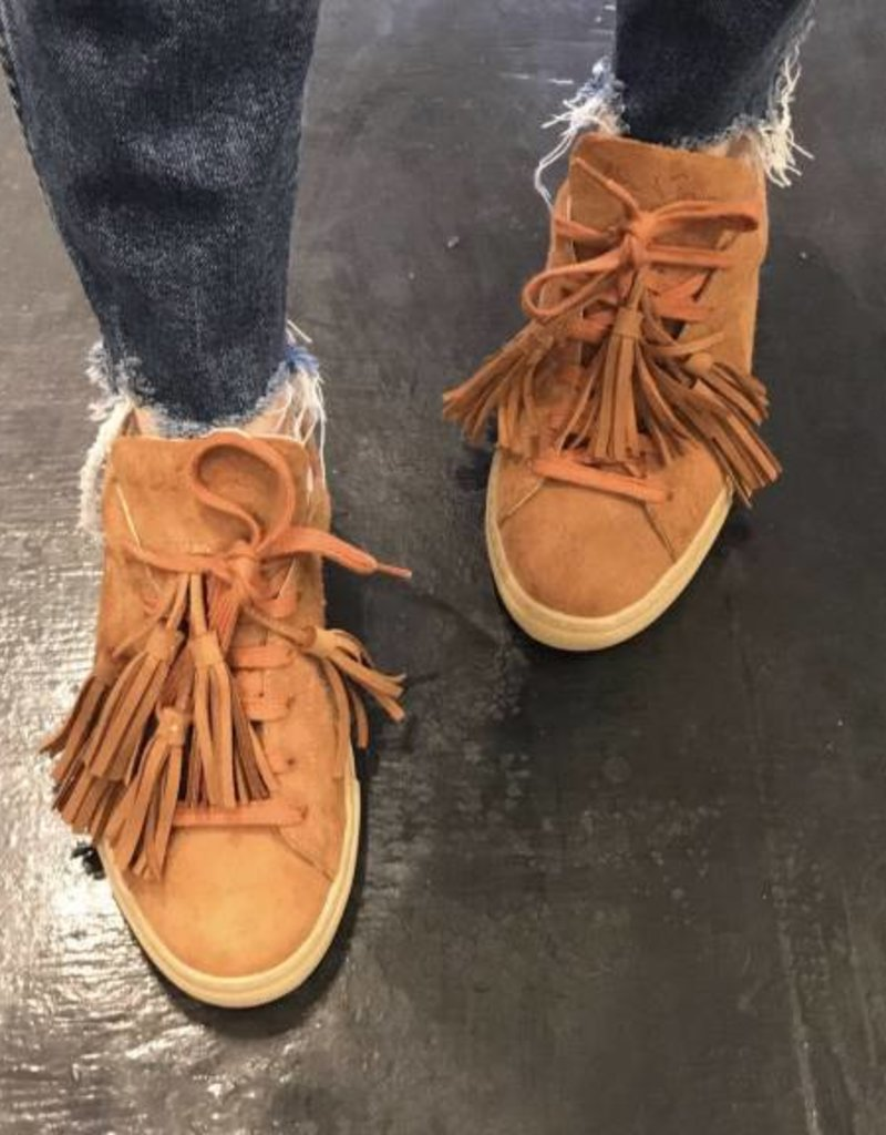 Alemeda Turquesa The Camel Suede Leather Sneaker