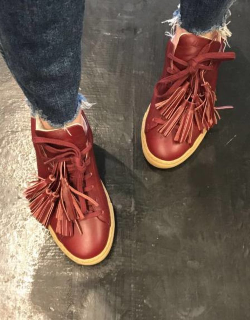 Alemeda Turquesa The Burgundy Smooth Leather Sneaker